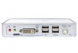 DVI-I KVM 2PC USB2.0 AUDIO ADCP02ASK WAVE